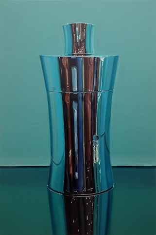 """Tiffany & Co. Cocktail Shaker"" 2014, Acryl auf Leinwand, 150 x 100 cm"