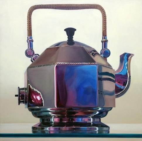 """Behrens Wasserkessel"" 2014, Acryl auf Leinwand, 150 x 150 cm"