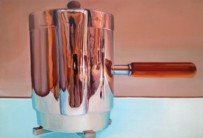 """""""Kaffeekanne"""" 2013, Acryl auf Leinwand, 125 x 180 cm"""