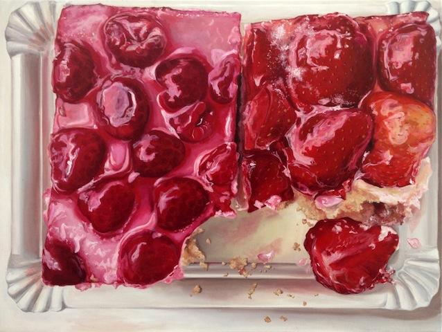 """Himbeer-Erdbeer"" 2013, Acryl auf Leinwand, 60 x 80 cm"