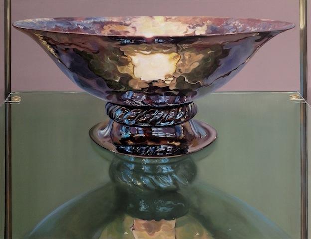 """""""Obstschale"""" 2013, Öl auf Leinwand, 100 x 130 cm"""