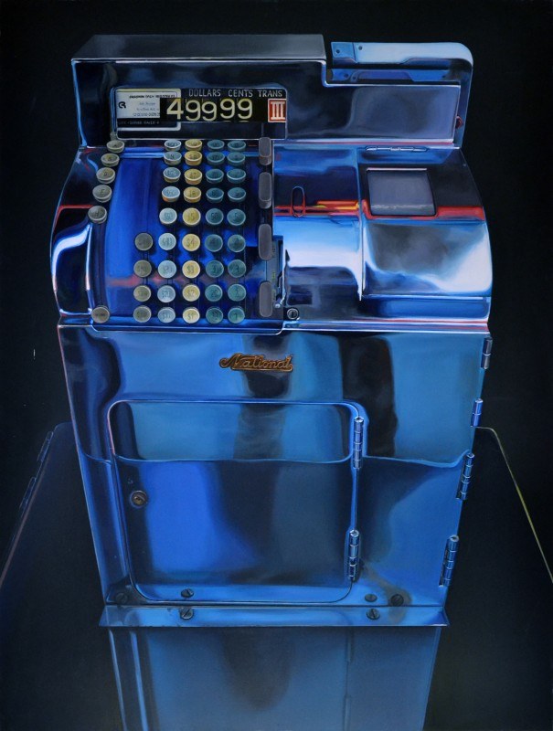 """Cash Register"" 2014, Acryl auf Leinwand, 200 x 150 cm"