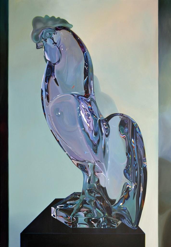 """""""Le Coq de Lalique"""" 2017, Acryl auf Leinwand, 180 x 125"""