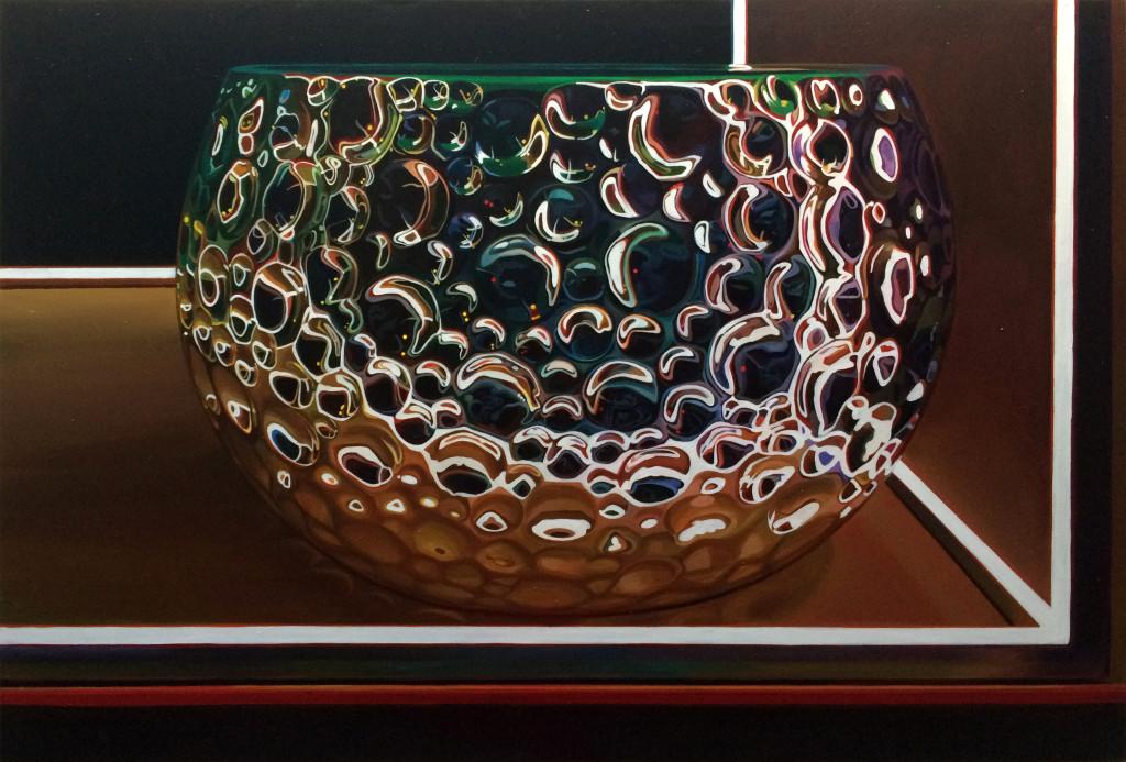 """Blumenvase"" 2018, Acryl auf Leinwand, 180 x 125 cm"