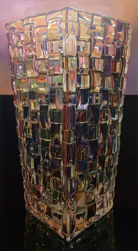 """""""Nachtmann Vase"""" 2019, Acryl auf Leinwand, 180x100 cm"""